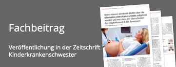 Abbildung eines Beitrags in der Zeitschrift Kinderkrankenschwester