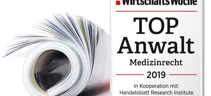 Dr. Roland Uphoff erneut als Top-Anwalt für Medizinrecht ausgezeichnet