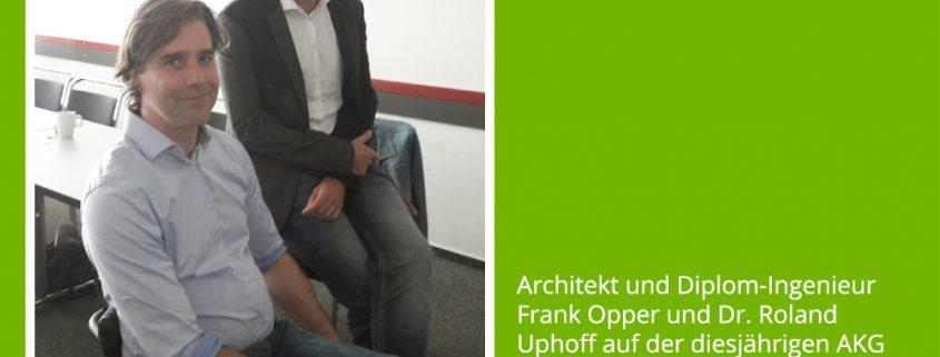 """Architekt und Diplom-Ingenieur Frank Opper und Dr. Roland Uphoff auf der diesjährigen AKG Bundestagung mit dem Schwerpunkt """"Barrierefreies Bauen"""""""