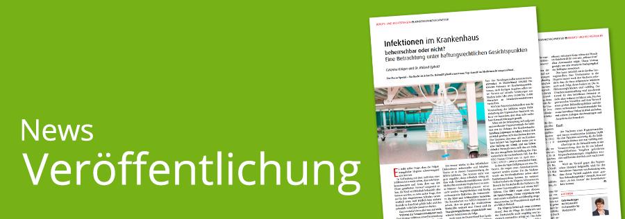 Fachbeitrag zu Krankenhausinfektionen von Caterina Krüger und Dr. Roland Uphoff im Magazin kinderkrankenschwester