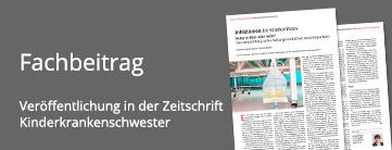 Fachbeitrag in der kinderkrankenschwester zum Thema Krankenhausinfektionen