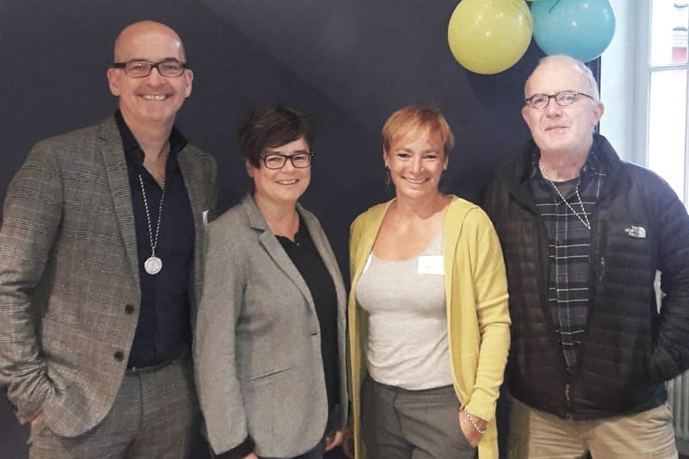 v.l.n.r.: Dr. Roland Uphoff, Caterina Krüger (Kanzlei Uphoff), Anja Brückner-Dürr, Dr. Jörg Bahm