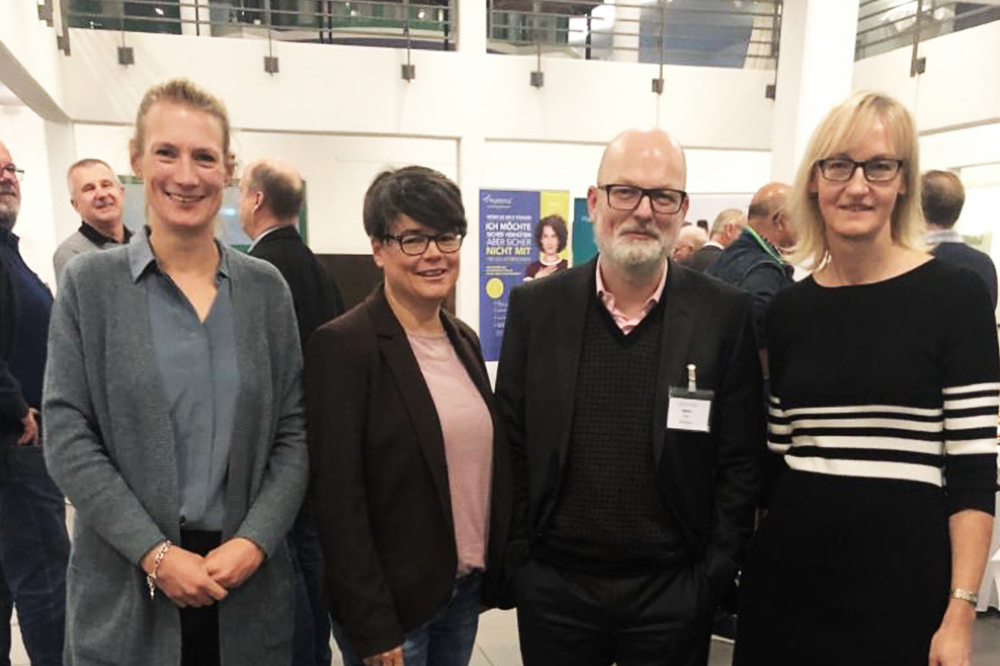v.l.n.r. Sandra Peters, Caterina Krüger, Axel Näther und Petra Marschewski von der Kanzlei Uphoff